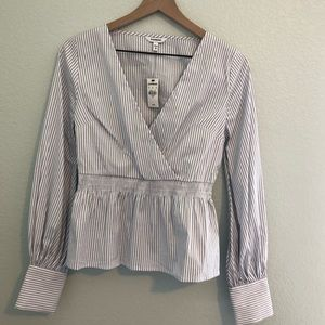 Express Pin-Striped Blouse